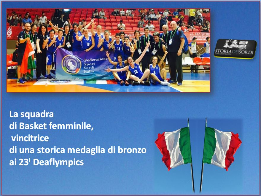 Basket femminile bronzo 23 deaflympics