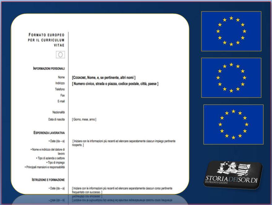 Formato Europeo Curriculum Vitae