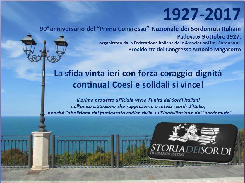 90 anni Primo congresso sordomuti Padova 1