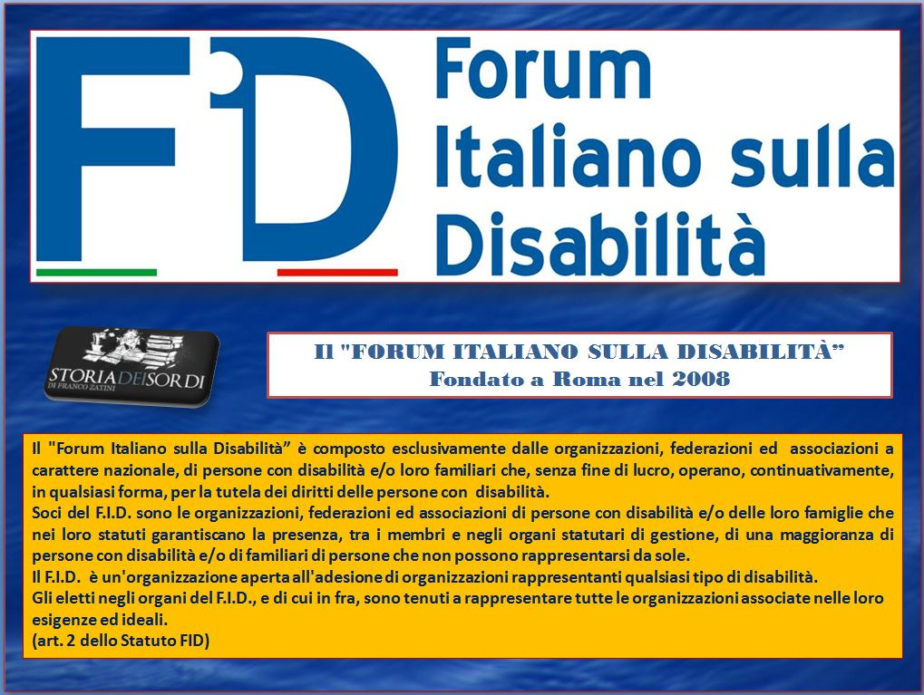 Forum Europeo sulla disabilità FID