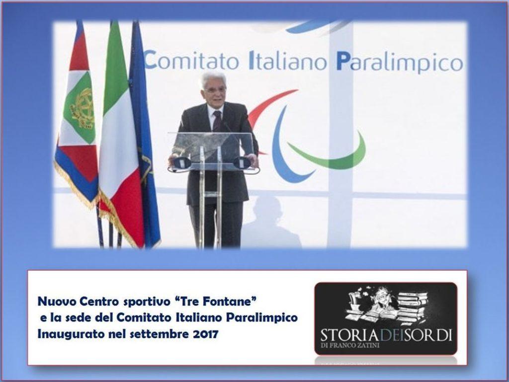 Comitato Italiano Paralimpico e Mattarella
