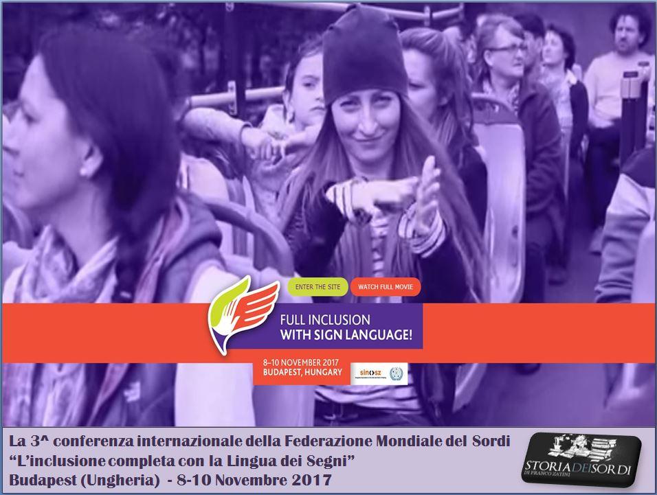 Conferenza Internazionale WDF Budapest 8-10 novembre
