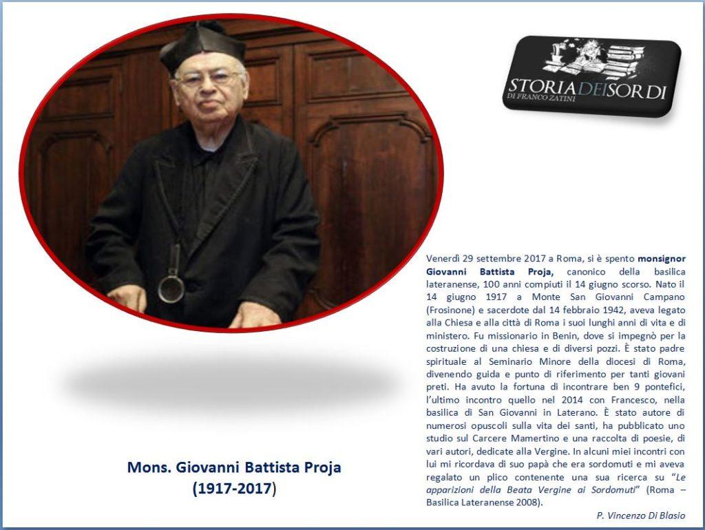 Giovanni Battista Proja 1917-2017