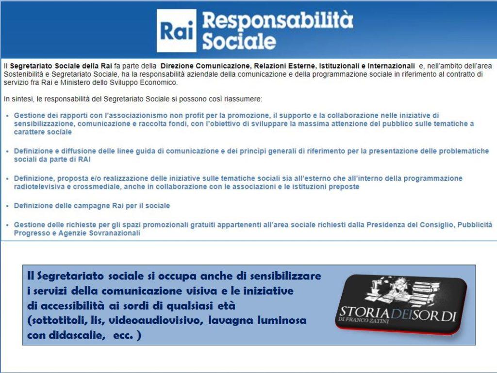 Responsabilità sociale RAI