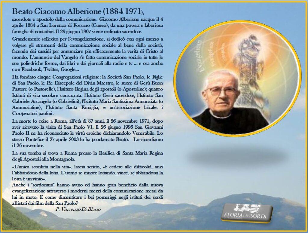 Alberione Giacomo (Beato) 1884-1971