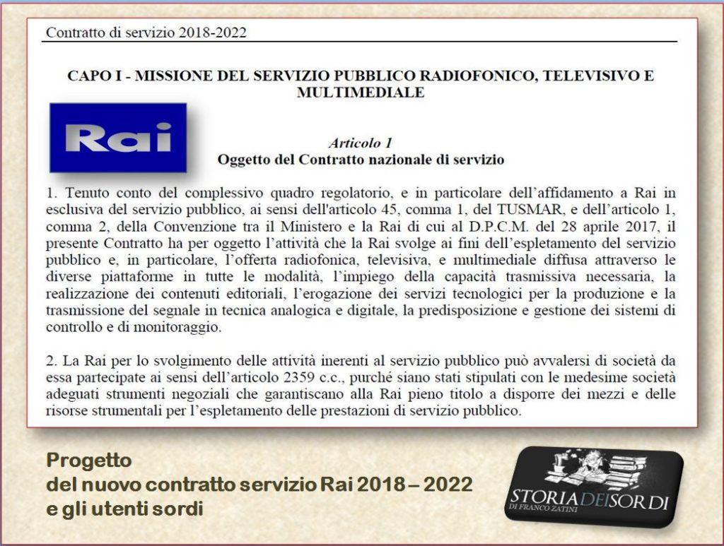 Rai contratto servizio 2018 - 2022