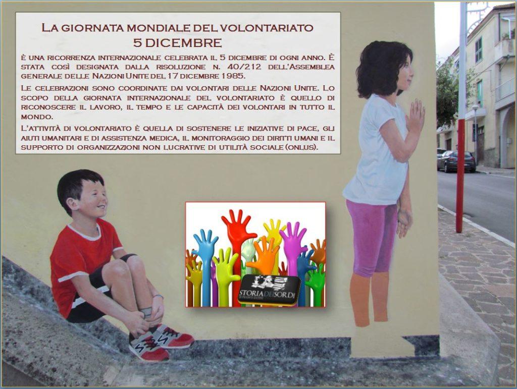Giornata Internazionale del Volontariato 5 dicembre