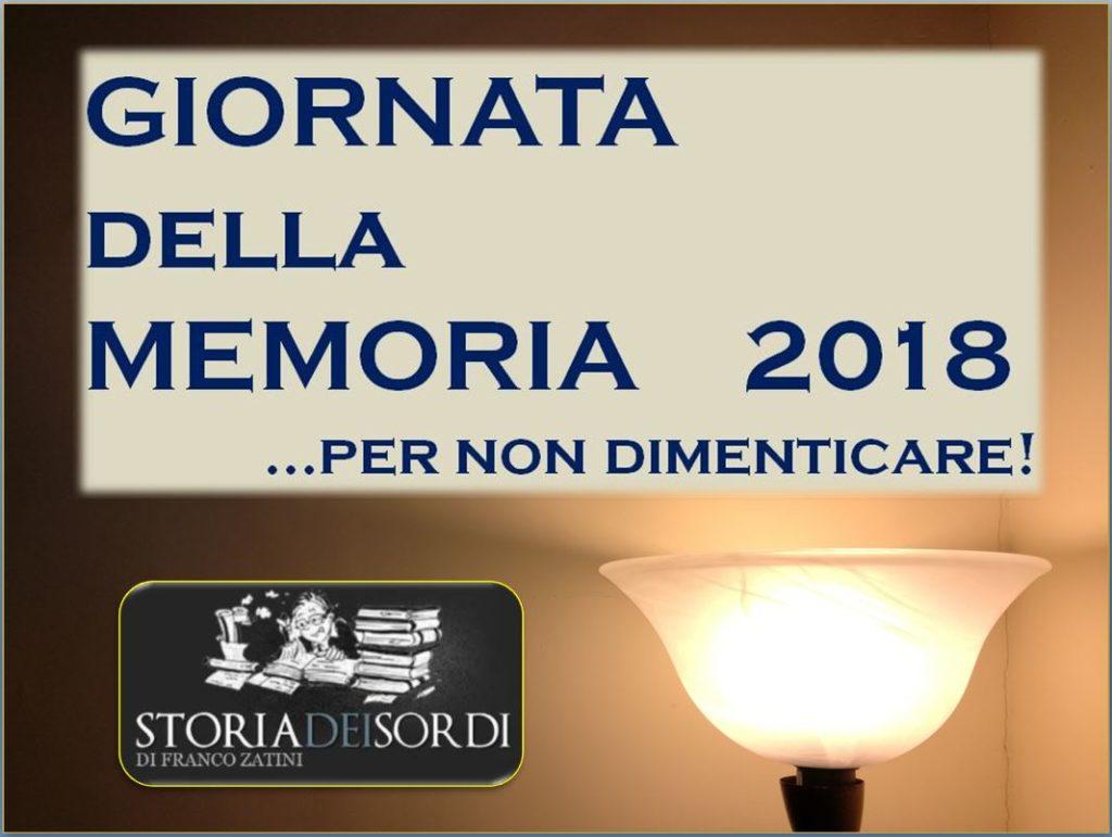 Giornata della Memoria 2018