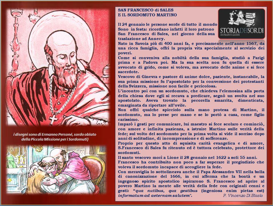 San Francesco di Sales e sordomuto Martino