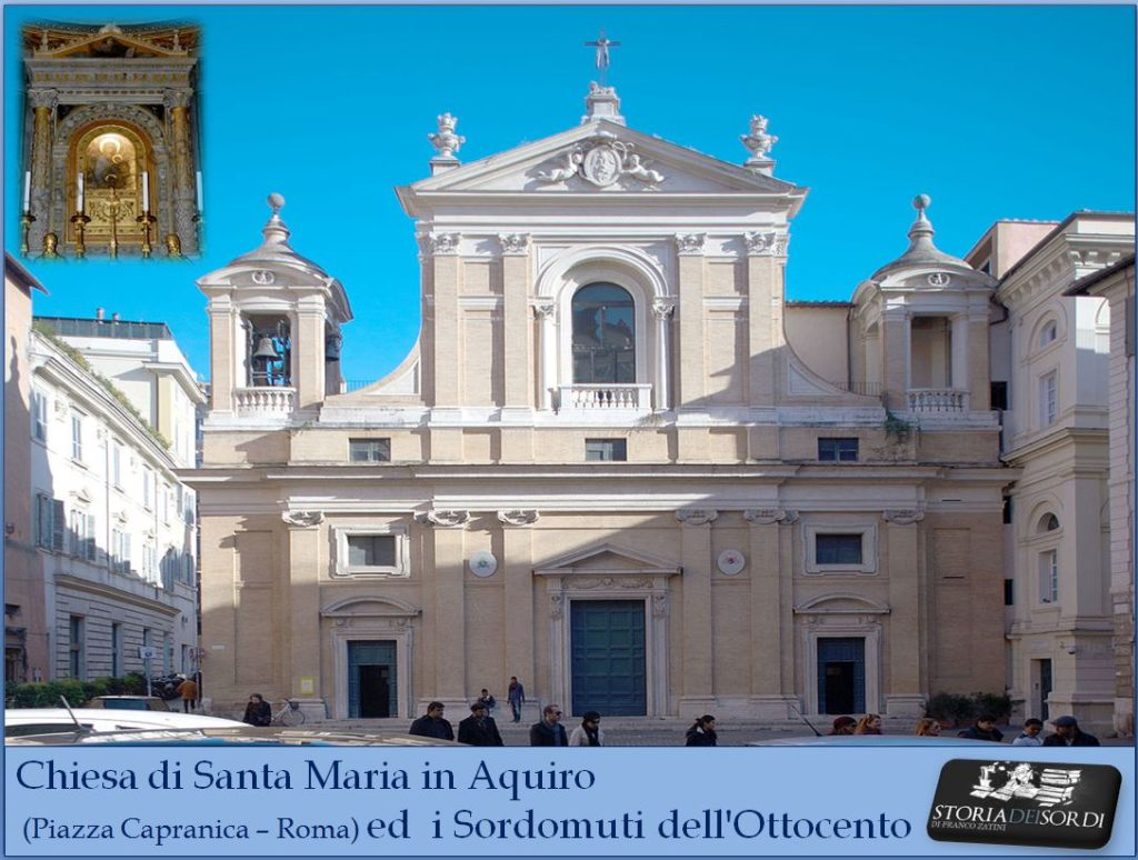 Chiesa di Santa Maria in Aquiro e i sordomuti dell'ottocento