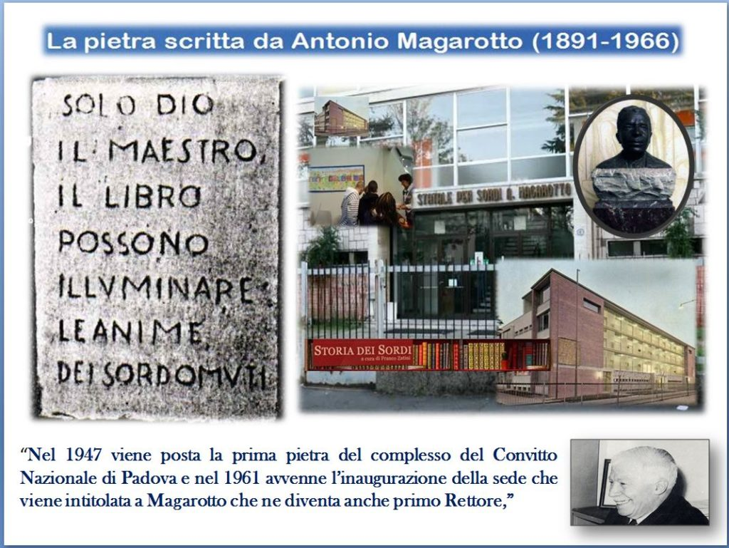 Prima Pietra Istituto Magarotto Padova 1947