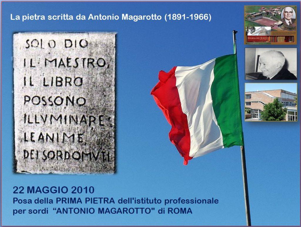 Prima Pietra Istituto Magarotto Roma 1960