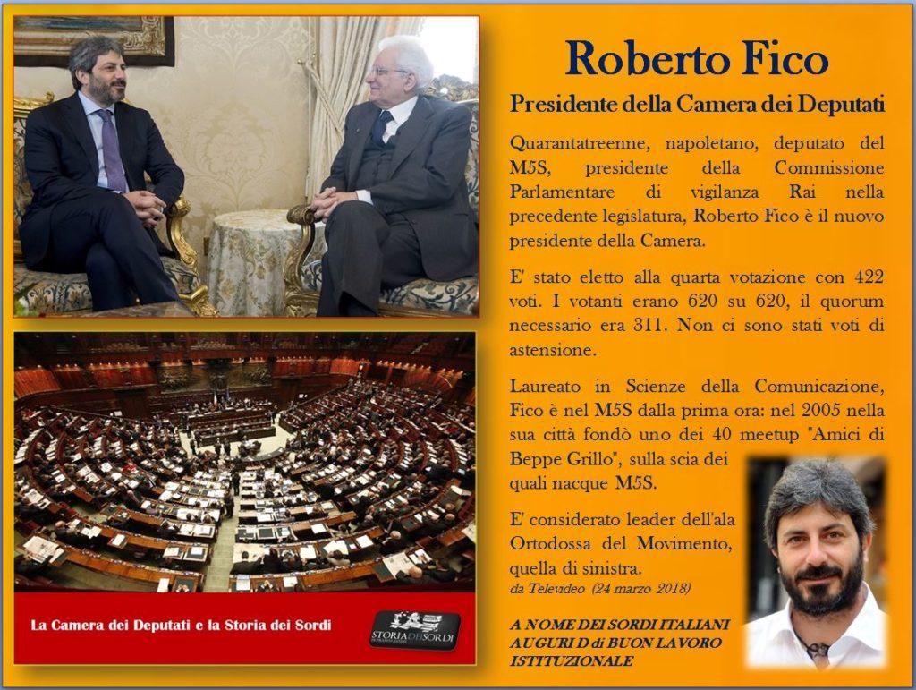 Roberto Fico Presidente Camera dei Deputati
