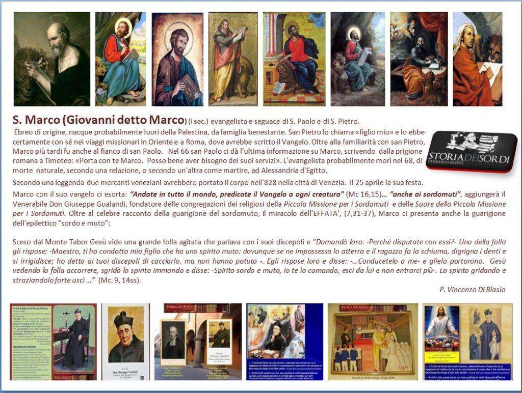 San Marco Evangelista e Don Giuseppe Gualandi