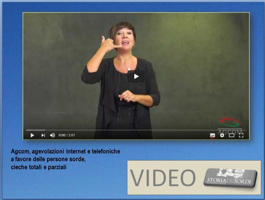 Agcom agevolazioni a favore dei sordi