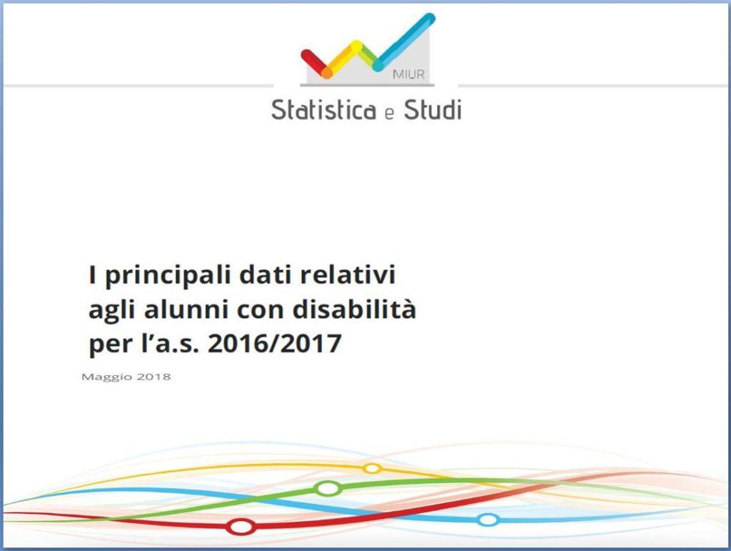 Dati alunni con disabilità 2016-2017