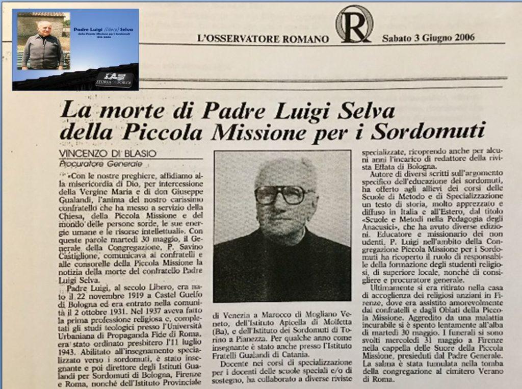 Padre Luigi Selva PMS
