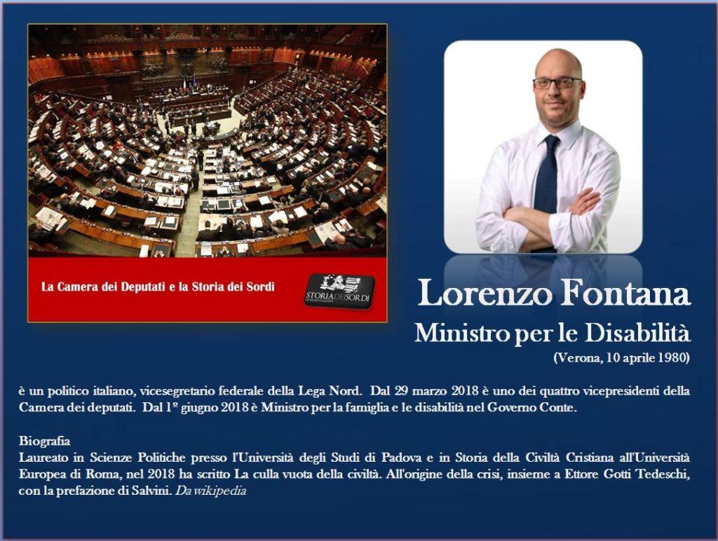 Lorenzo Fontana Ministro per le disabilità