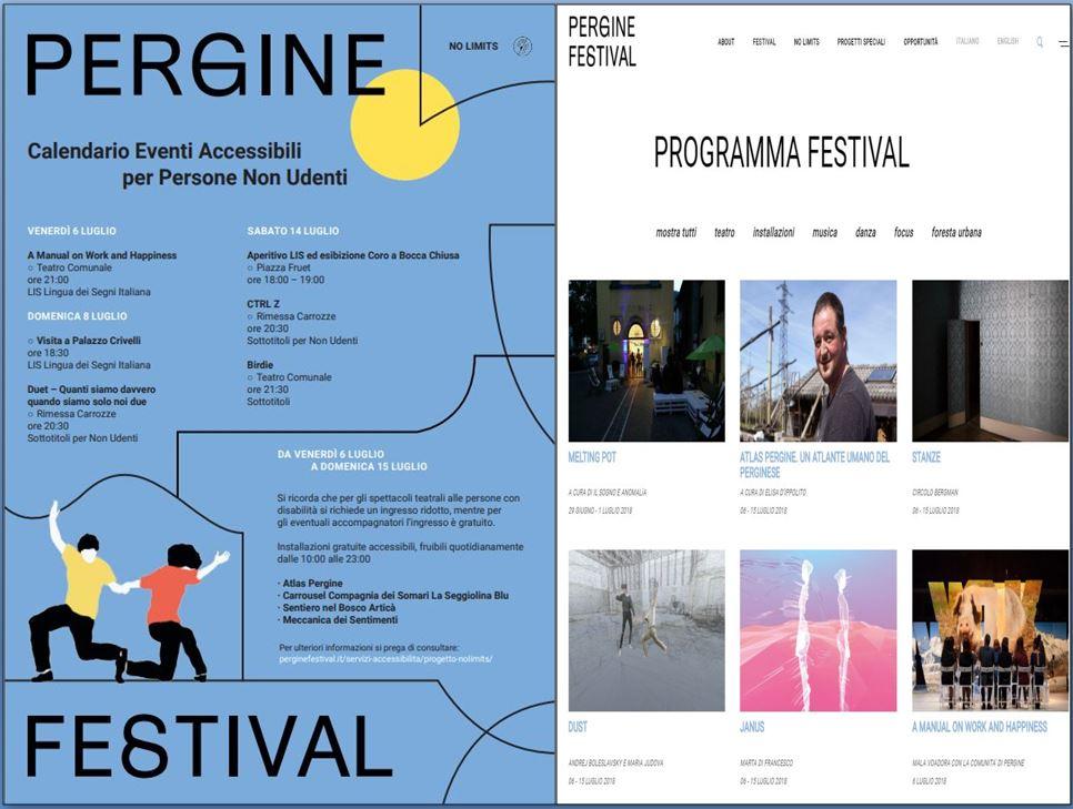 Pergine festival 2018 non udenti