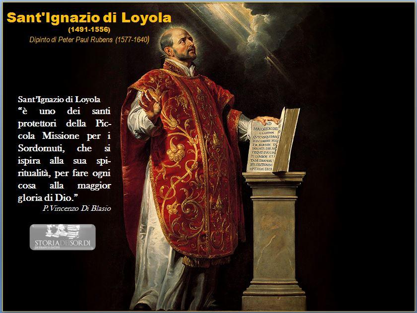 Sant'Ignazio di Loyola e sordomuti
