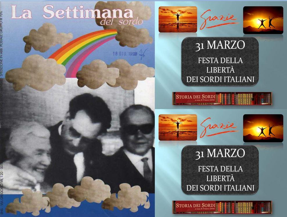 31 marzo Festa della libertà dei sordi italiani