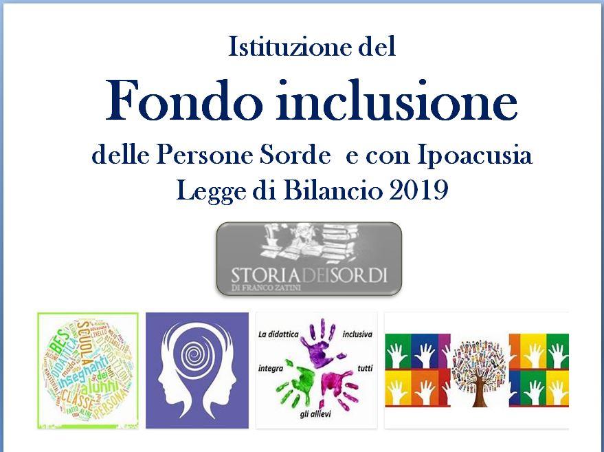 Fondo inclusione delle persone sorde