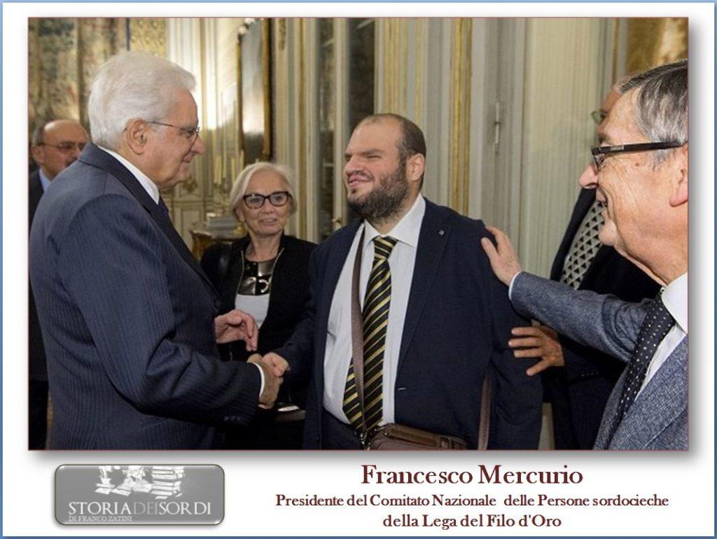 Francesco Mercurio Presidente Comitato Persone sordocieche