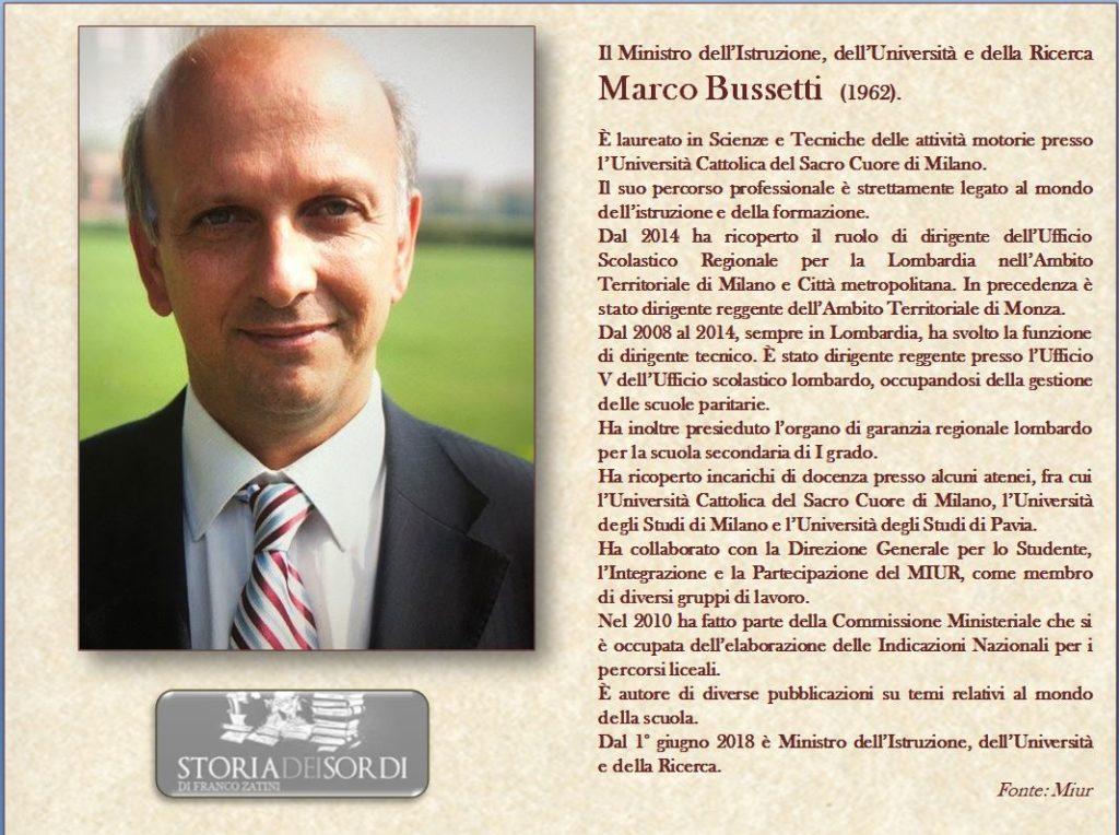 Marco Bussetti storiadeissordi