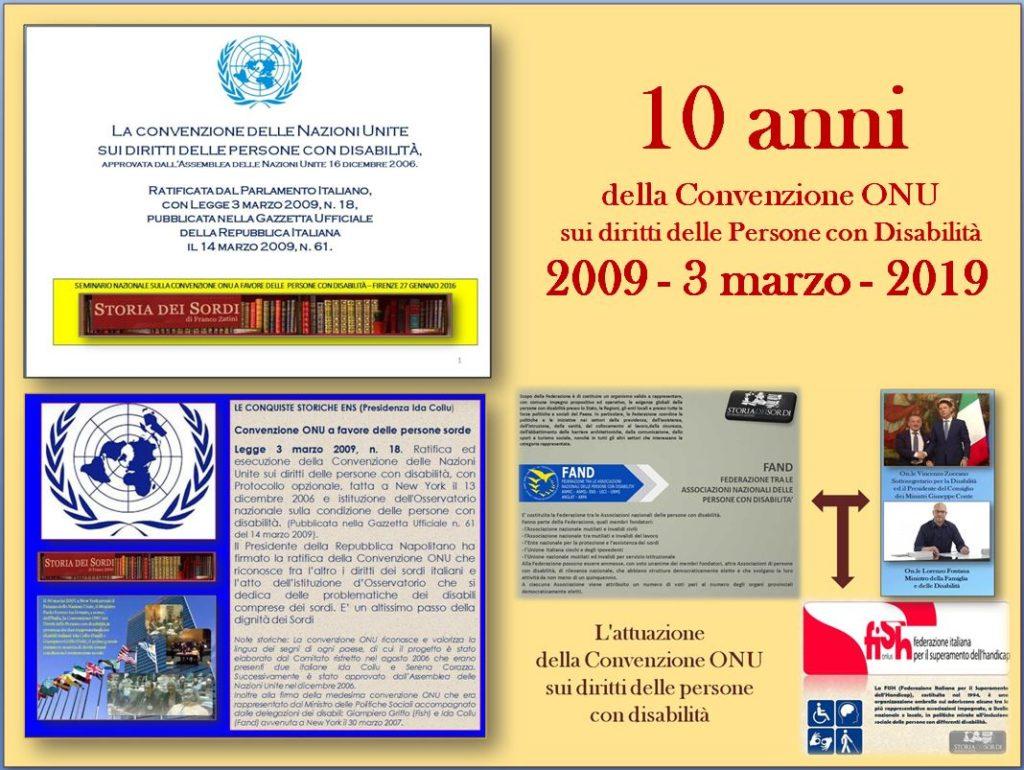 Convenzione ONU a favore delle persone con disabilità 2009 - 2019