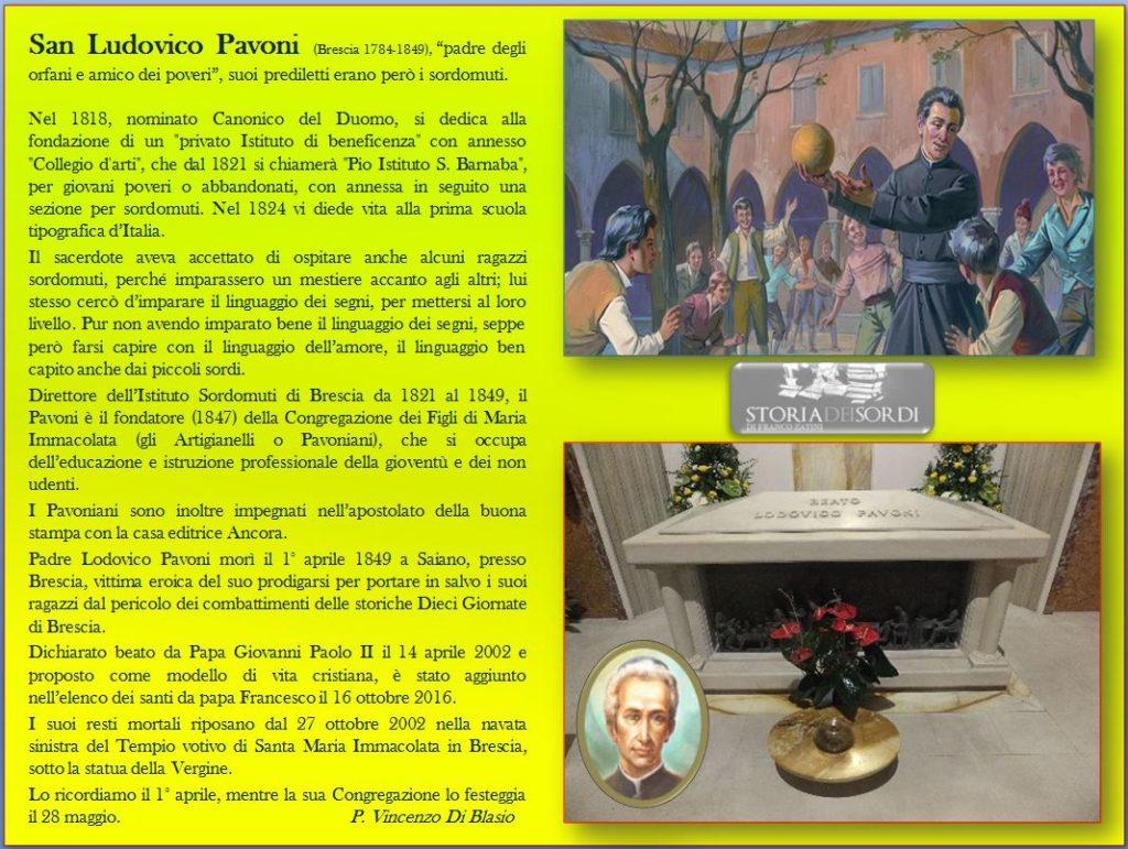Ludovico Pavoni (Santo) storiadeisordi
