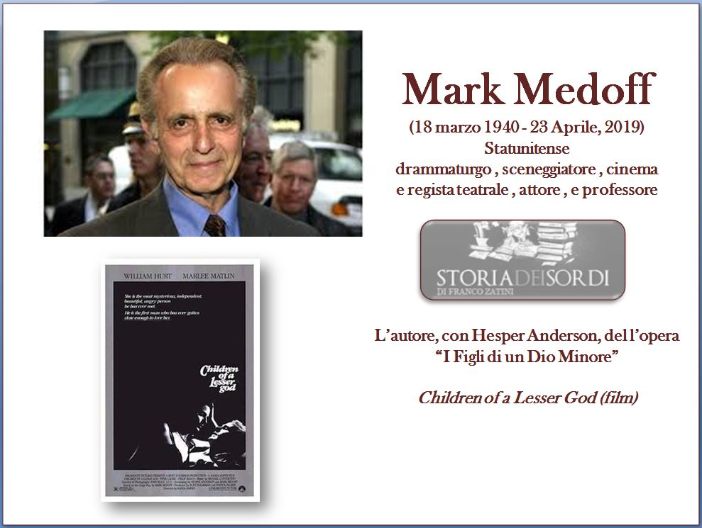Mark Medoff storiadeisordi