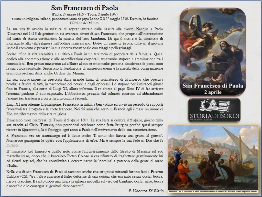 San Francesco di Paola 1416-1507