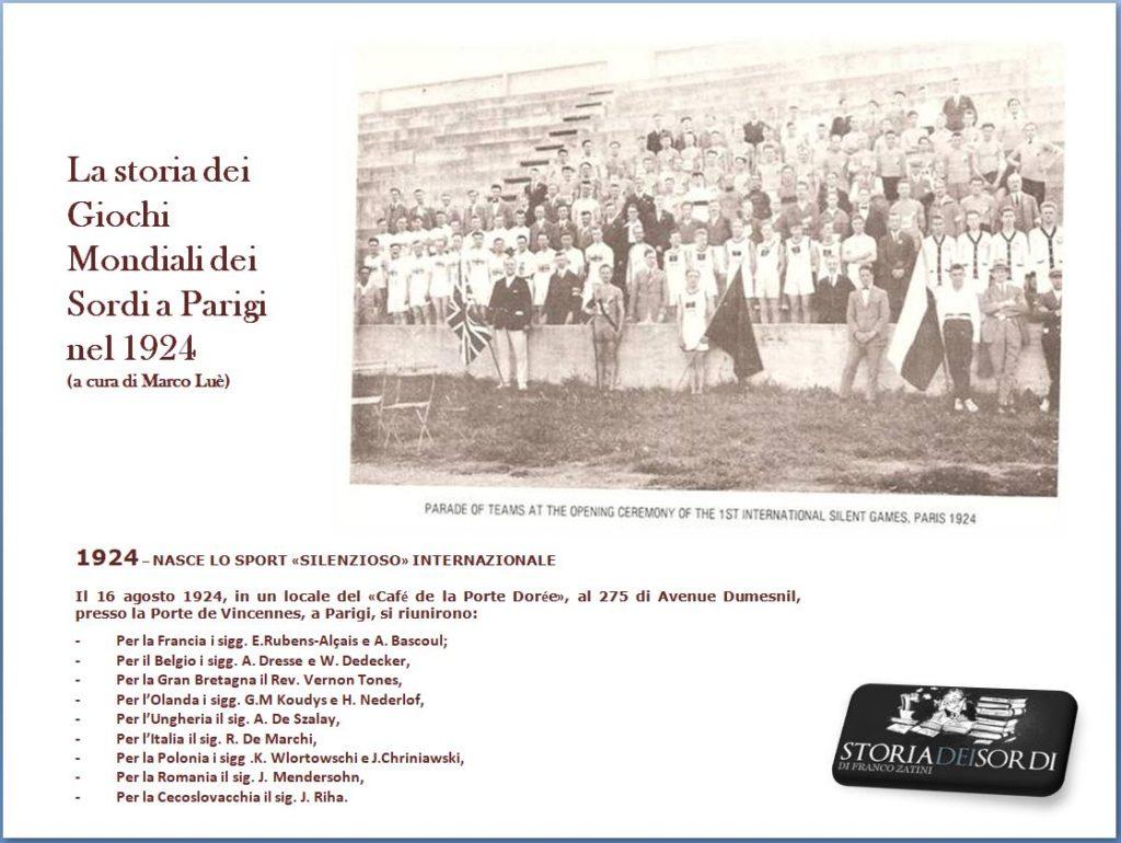 Giochi Mondiali dei Sordi Parigi 1924
