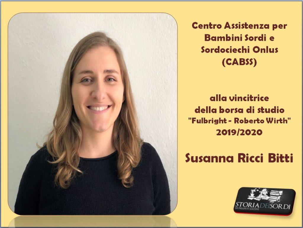 Ricci Bitti Susanna Borsa studio Fulbright Wirthù