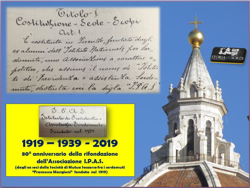 80 anniversario fondazione IPAS