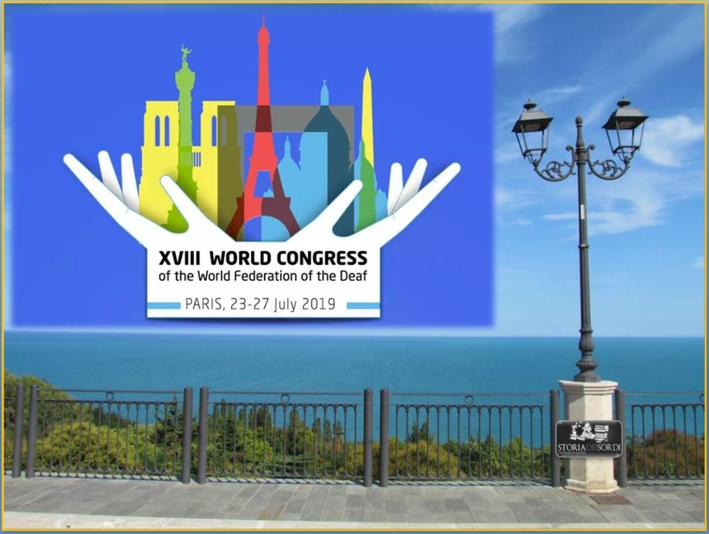 XVIII WORLD CONGRESS ot the World Federation of the Deaf Paris 2919