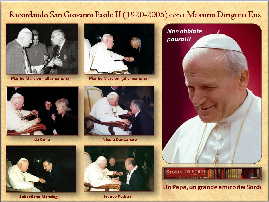 Giovanni Paolo II e i massimi dirigenti ens