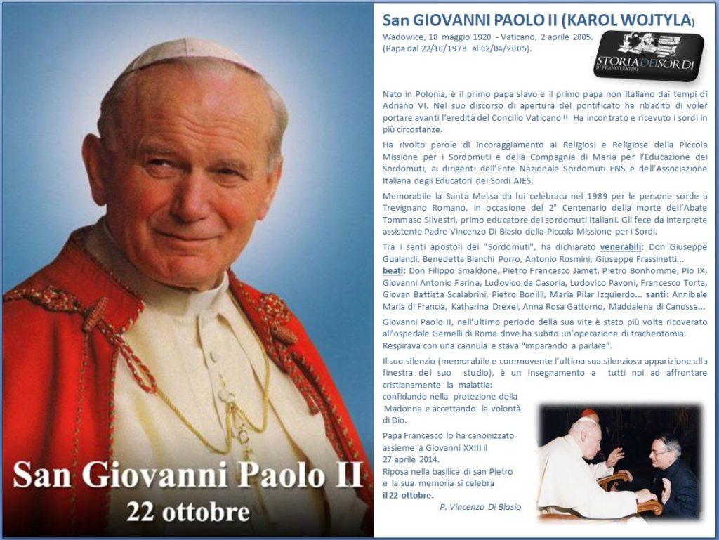 San Giovanni Paolo II 22 ottobre