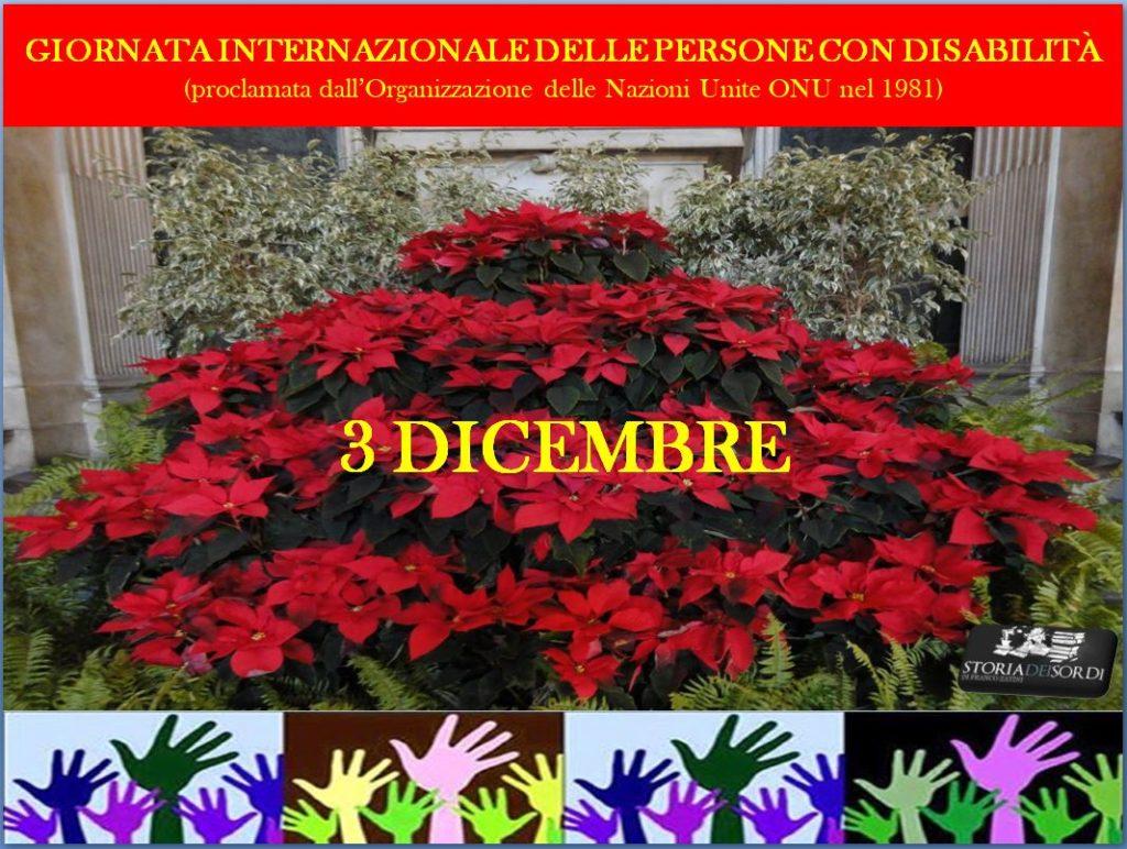 3 dicembre giornata internazionale disabilità 2019