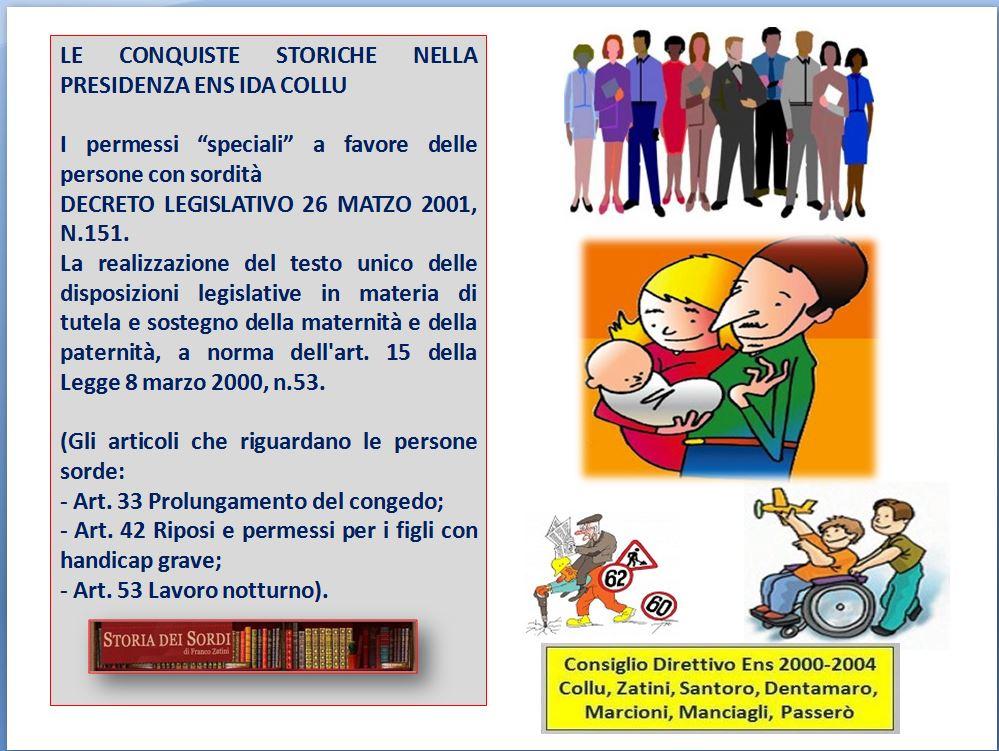 2001 Permessi speciali D.Lgs. 151