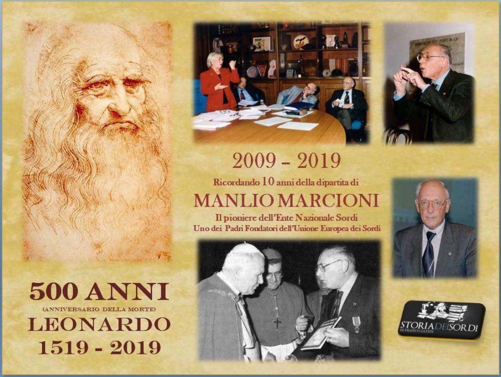 500 anni Leonardo. Manlio Marcioni 10 anni della morte 2009 2019
