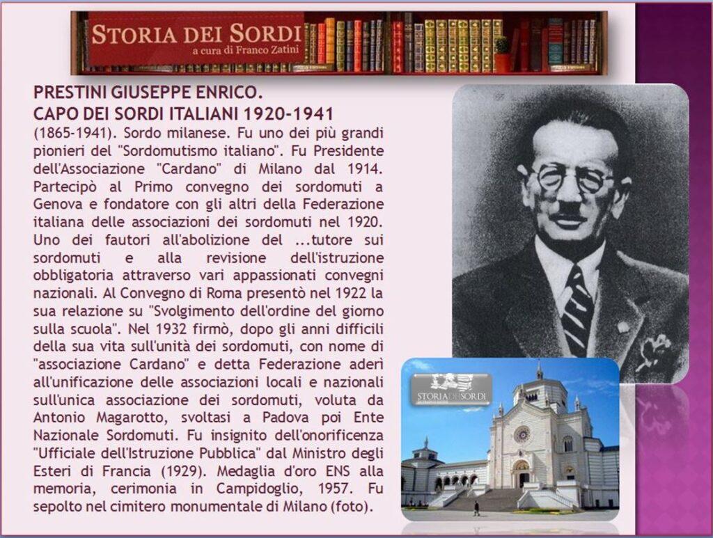 Prestini Giuseppe Enrico 100 anni