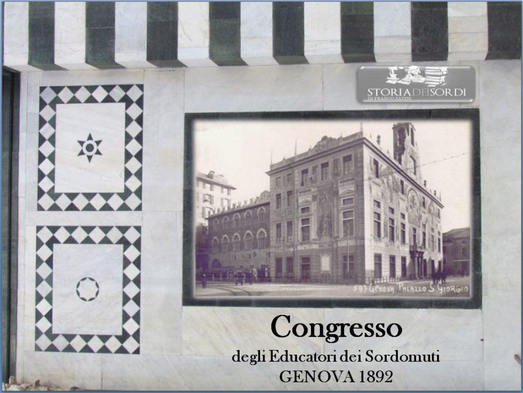 Congresso Educatori dei sordomuti Genova 1892