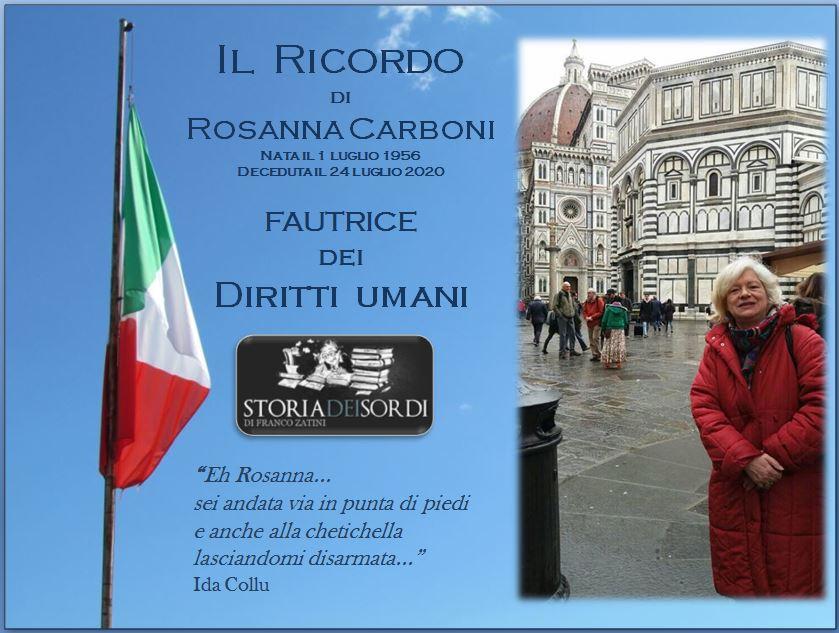 Rosanna Carboni 1956 - 2020