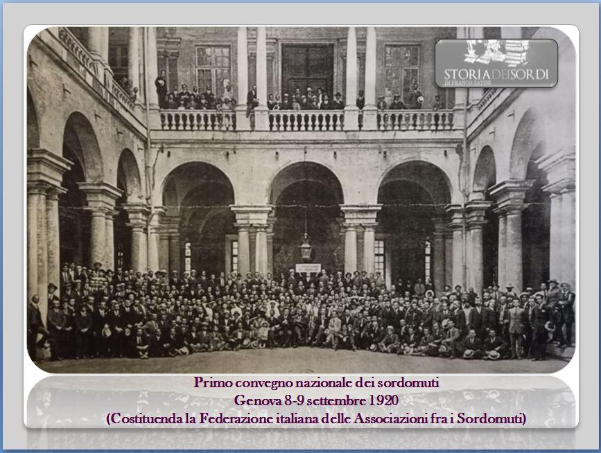 100 anni FIAS 8-9 settembre 1920 2020
