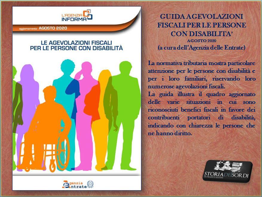 Guida agevolazioni fiscali per le persone con disabilita agosto 2020