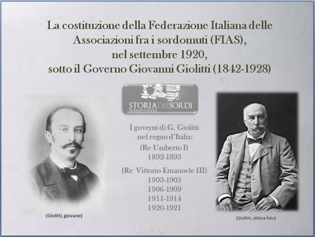 Giovanni Giolitti FIAS