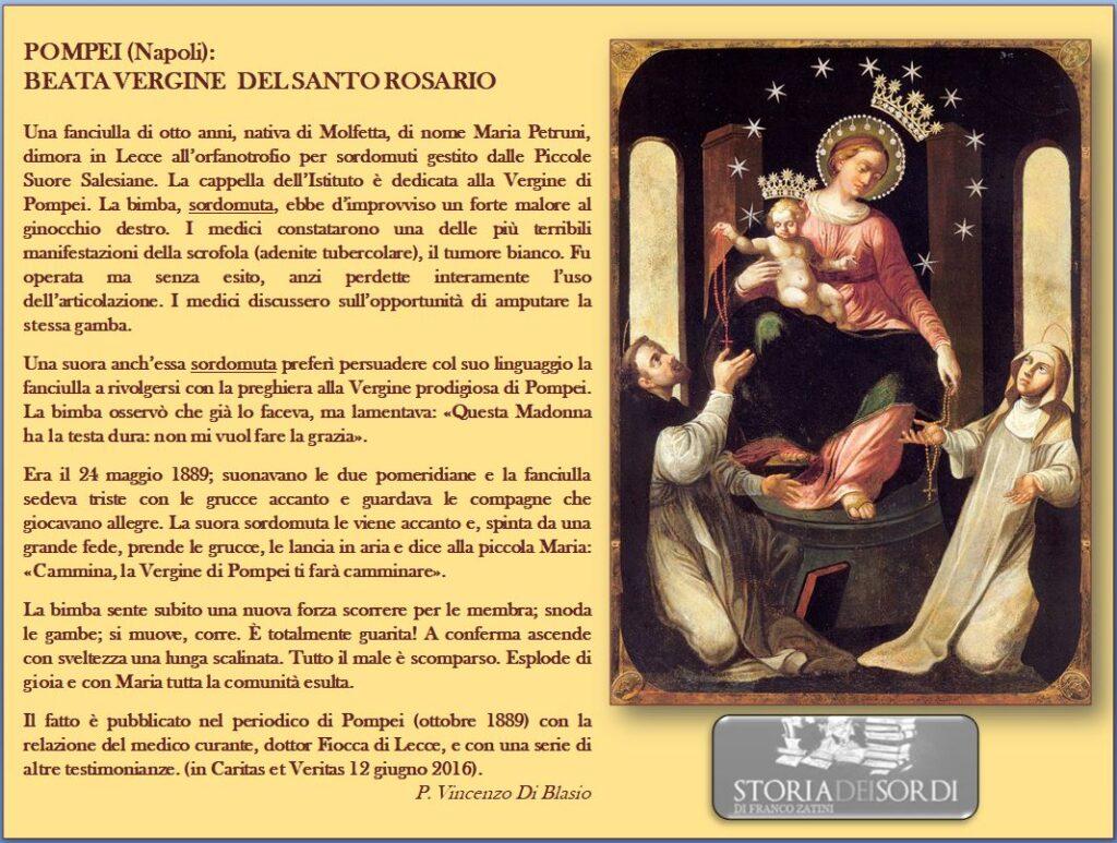 Madonna del Rosario e le sordomute