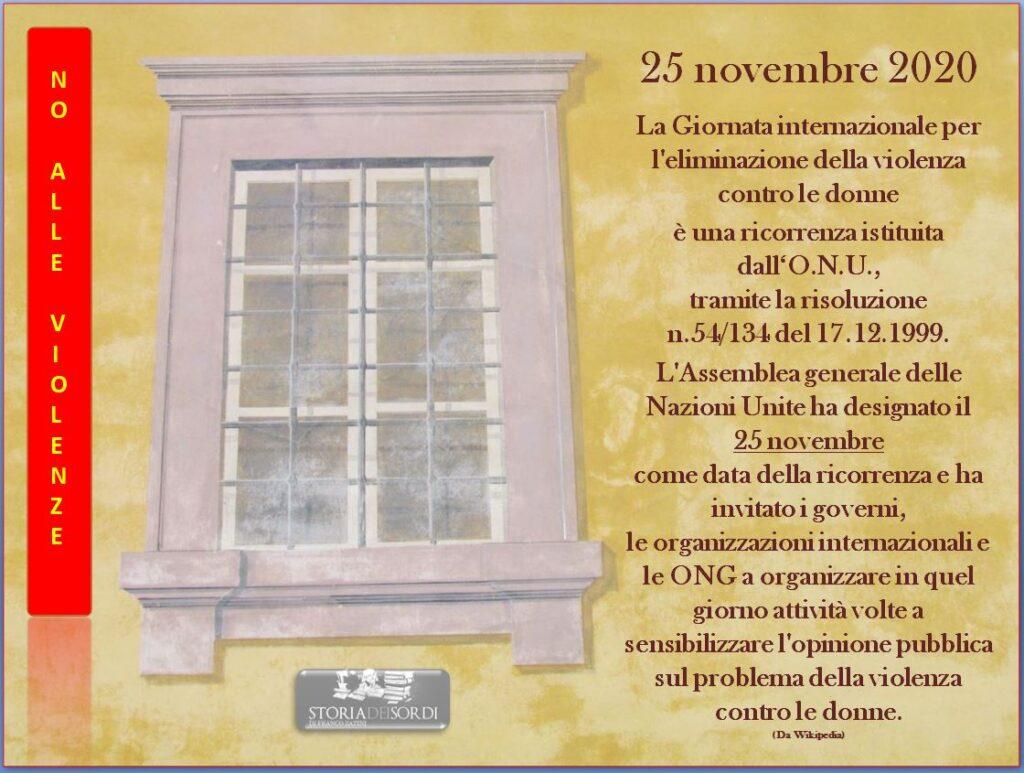 25 novembre contro violenze