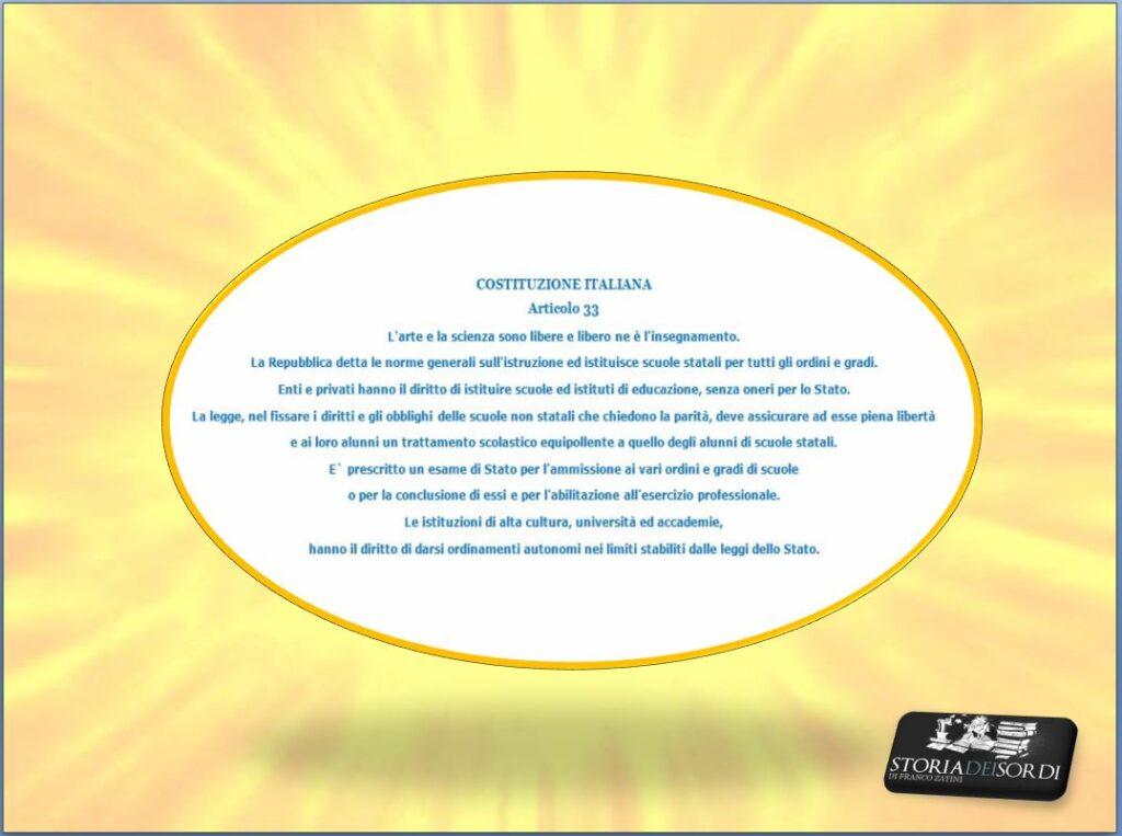 Costituzione art. 33
